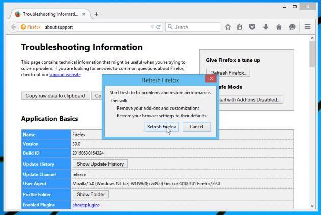 Ripristinare Mozilla Firefox 2